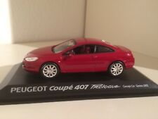 Norev Peugeot 407 Coupe Prologue Concept Geneve 2005 in Rotmetallic 1/43 OVP