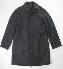 A.P.C. x Jules Tournier Raglan Back Mac Gray Wool Coat Size XS $525