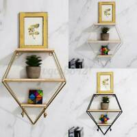 Wood Wall Mounted Shelf Display Rack Storage Bracket Floating Shelves Home Decor