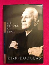 SIGNED KIRK DOUGLAS MY STROKE OF LUCK 1st/1st PSA DNA COA  WOW