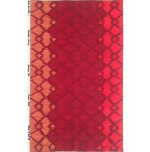 5x8 Flat Weave Durry Red Modern Tibet Handmade Rug B-79223
