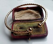 LARGE 9ct Gold gf Torque Bracelet Bangle, BUY WITH CONFIDENCE { 028 }