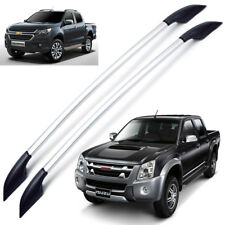 Roof Rail Bar L+R Silver For Isuzu Chevrolet Holden Rodeo D-Max Colorado 12 18