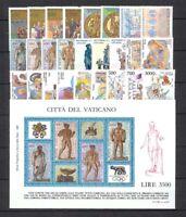 Vatican City #Mi907-Mi936 #MiBl9 MNH CV€50.00 1987 Year Set [779-805]