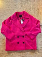 Women's Express Boxy Double Breasted Wool-Blend Coat Medium Pink - New With Tags