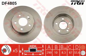 TRW Brake Rotor Rear DF4805S fits Mercedes-Benz C-Class C 180 (C204), C 200 (...