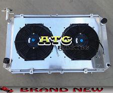 Aluminum Radiator+Fan shroud For Patrol GQ 2.8 4.2 DIESEL TD42 & 3.0 PETROL Y60