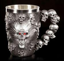 Totenkopf Krug - Spirit Skull - Gothic Bierkrug Becher Trinkgefäß Deko
