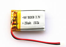 250 mAh Internal Lipo Battery Replacement for 808 #18 #16 HD Car Key Camera Mini
