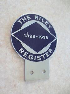 1899 - 1938 Riley Register car badge