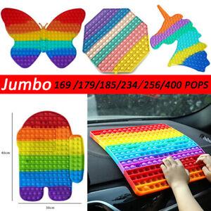 Jumbo Popit Fidget Sensory Toy Bubble Autismus SEN ADH Stressabbau Spielzeug DE
