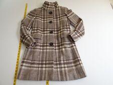 Ann Taylor LOFT Women's Brown Plaid Wool Blend Winter Coat XXSP XXS Petite NWT