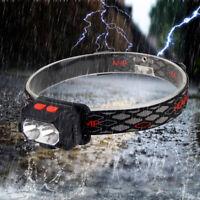 Red&White XPE LED HeadLamp Rechargeable Body Motion Sensor Head Light Flashlight