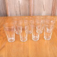 8 Clear Glass Bell Shape Tumblers Water Glasses Cups