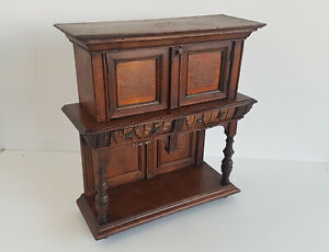 Modellschrank Wall Cabinet Gründerzeit-anrichte Walnut Um 1880 Approx.