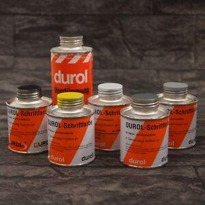 Durol Schriftfarbe 100 ml in verschiedenen Farben Grabstein Steinmetz