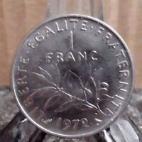 CIRCULATED 1972 1 FRANC FRENCH COIN (42917)1.....FREE SHIPPING!!!!!