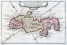1758 Martinique: Carte de l'Isle de la Martinique, by Nicolas Bellin