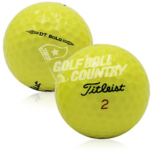 12 Titleist DT Solo Yellow AAA (3A) Used Golf Balls - FREE Shipping