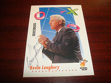 Kevin Loughery Heat St. John's 1992 Skybox #391 Signed Authentic Autograph N13