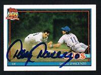 Doug Dascenzo #437 signed autograph auto 1991 Topps Baseball Trading Card
