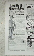 1949 old print ad - CHARLES ATLAS bodybuilding sexy guy body muscles vintage AD