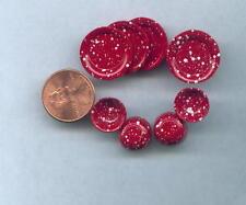 Miniature Dollhouse Red Splatterware Plates-Bowls/8Pc