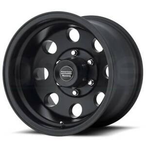 16x10 AMERICAN RACING BAJA 6x139.7 ET-25 Satin Black Wheels (Set of 4)