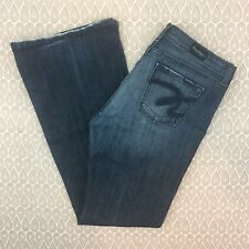 David Kahn Women's Dark Wash Flare Jeans Size 32X34 P173