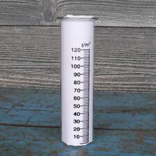 Regenmesser aus Glas Höhe 15cm Durchm. 4cm Echtglas mit Skala Ersatzglas Garten