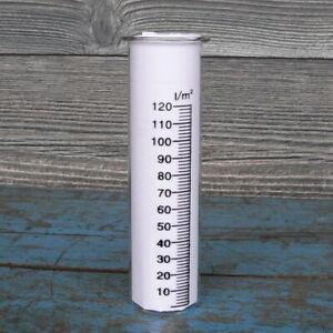 Regenmesser Glas Höhe 15cm Durchmesser 4cm Echtglas mit Skala Ersatzglas Garten