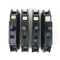 ZINSCO QB QB20 QB120 CIRCUIT BREAKER 20A 1P 1 POLE 240V 240 VOLT (Set of 4)