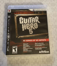 Guitar Hero 5 PS3 Complete  (Sony PlayStation 3, 2009)