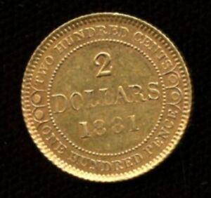 1881 Newfoundland $2 Gold Coin