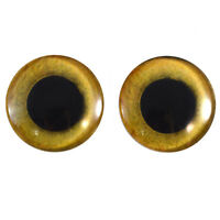 Jewelry Making 30mm Yellow Owl Bird Glass Eyes Realistic Pair for Art Dolls Fursuits Masks Taxidermy Sculptures and More Props