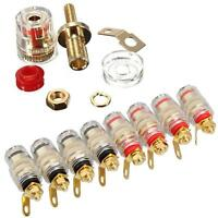 8Pcs 4mm Gold Plated Amplifier Speaker Terminal Binding Post Banana Plug Jack BS