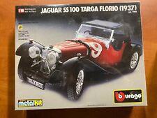 BBURAGO : Jaguar SS 100 Targa Florio 1937 -1:18 Model Diecast Metal Kit - SEALED