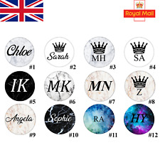 Personalised Initials/Name Pop Out Socket Phone Holder Finger Grip Expanding -UK