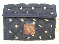 Bifold wallet 100% Cotton credit cards & Mad money, change quilted  grab & Go