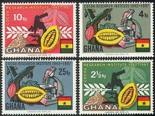 Ghana 1967 Cocoa/Farming/Food/Plants/Nature/Microscope/Science 4v set (n41801)