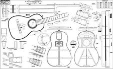 "Spanish-style Martin Guitar Full-Scale 36"" x 58"" Plan / lutherie /guitar making"