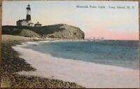 Montauk, Long Island, NY 1920s Postcard: Light House - LI, New York - 2