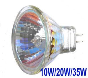 2/10x MR11 10w 20w 35w Halogen Spotlight Lamp 12v GU4 35mm Light Bulb White 12V