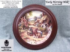 England BRADEX * WEDGWOOD * Early Morning Milk * Country Days series of  Plates