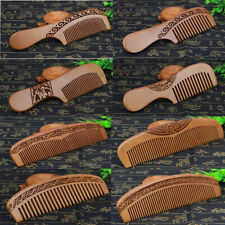 Fine Tooth No Static Beard Comb Hair Comb Peach Wooden Hair Styling Tool