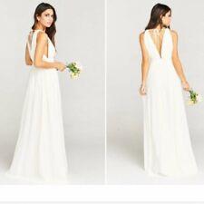 Show Me Your MuMu Ava Maxi Dress Size XXL Womens Wedding Cake Chiffon Plunge V