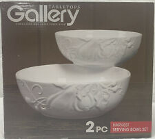 Tabletops Gallery - Harvest Serving Bowl Set - 8� & 10� - Brand New - White