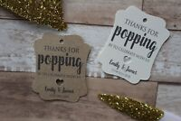 Personalised ornate wedding favour tags-Thanks for popping by