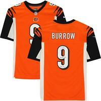 Joe Burrow Cincinnati Bengals Signed Orange Jersey & Multiple Draft Inscs - LE 9
