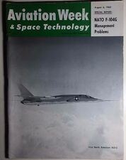 AVIATION WEEK & SPACE TECHNOLOGY Magazine 8/6/1962 Soviet space tests